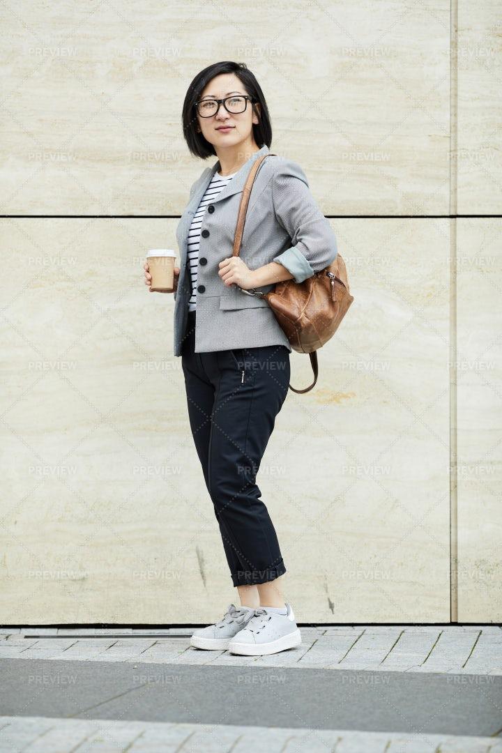 Asian Student Posing Outdoors: Stock Photos