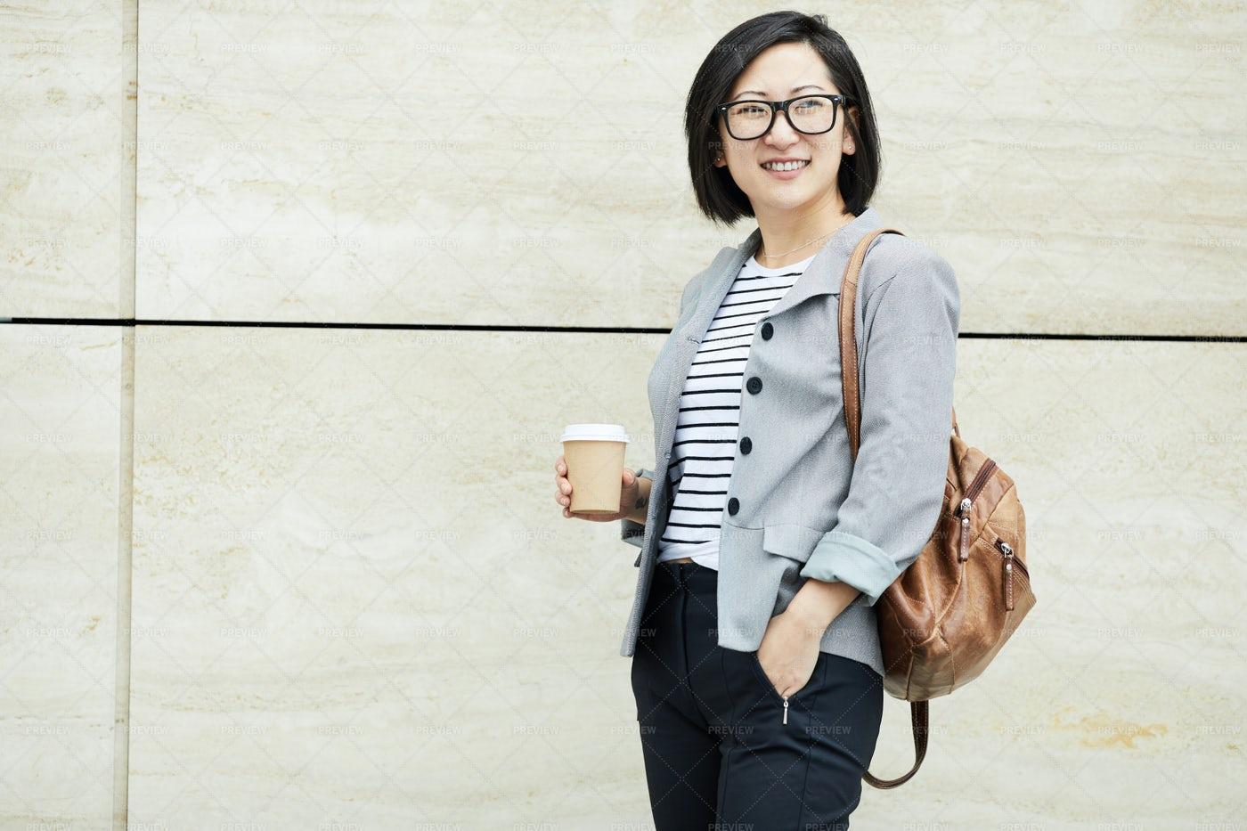 Modern Asian Student Posing...: Stock Photos