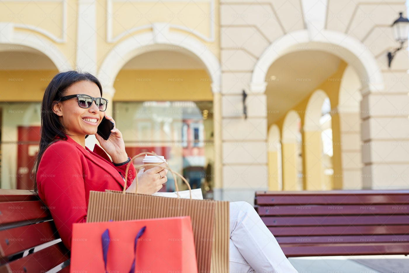 Sharing News With Friend On Phone: Stock Photos