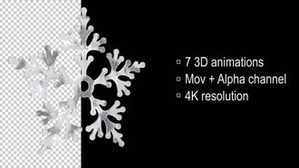 3D Loop Snowflake: Motion Graphics