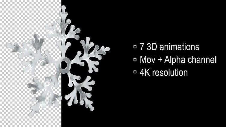 3D Loop Snowflake: Stock Motion Graphics