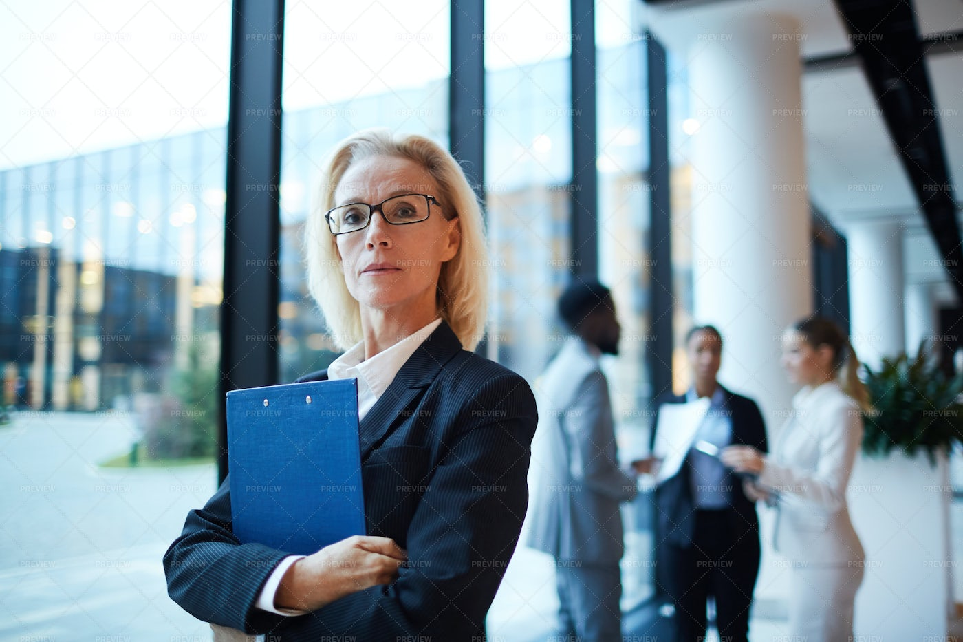 Businesswoman With Document: Stock Photos