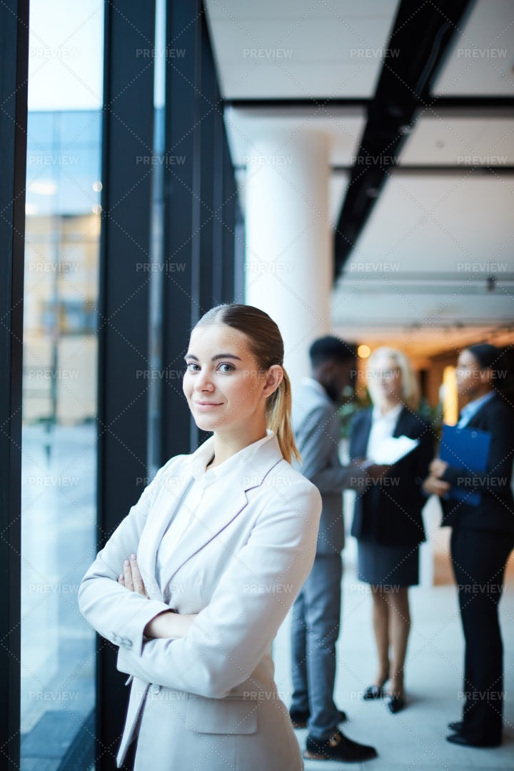 Businesswoman In Lounge: Stock Photos