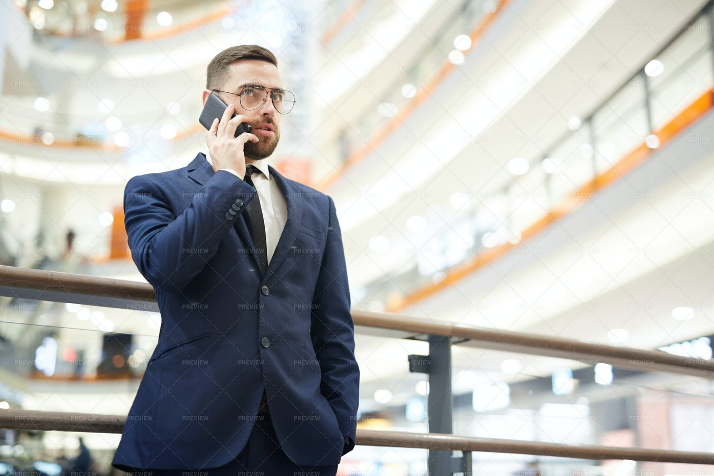 Agent On The Phone: Stock Photos
