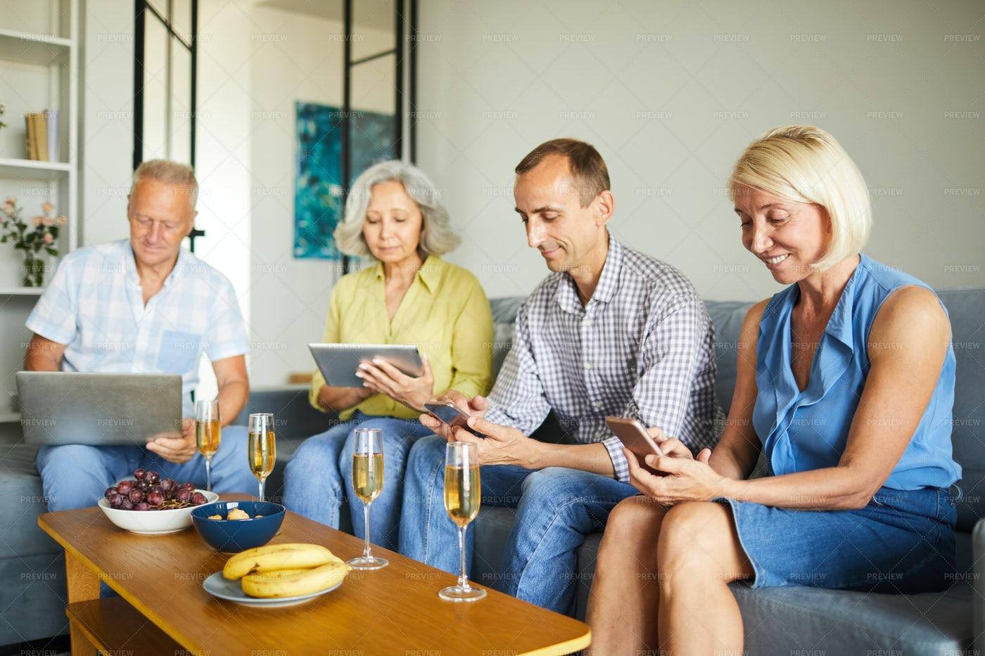 Modern Senior People Using...: Stock Photos