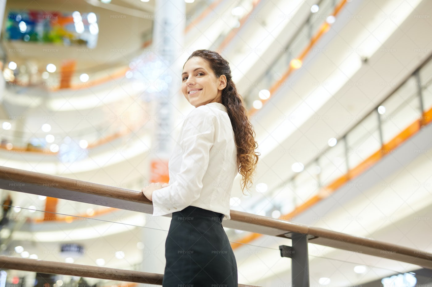 Woman In The Mall: Stock Photos