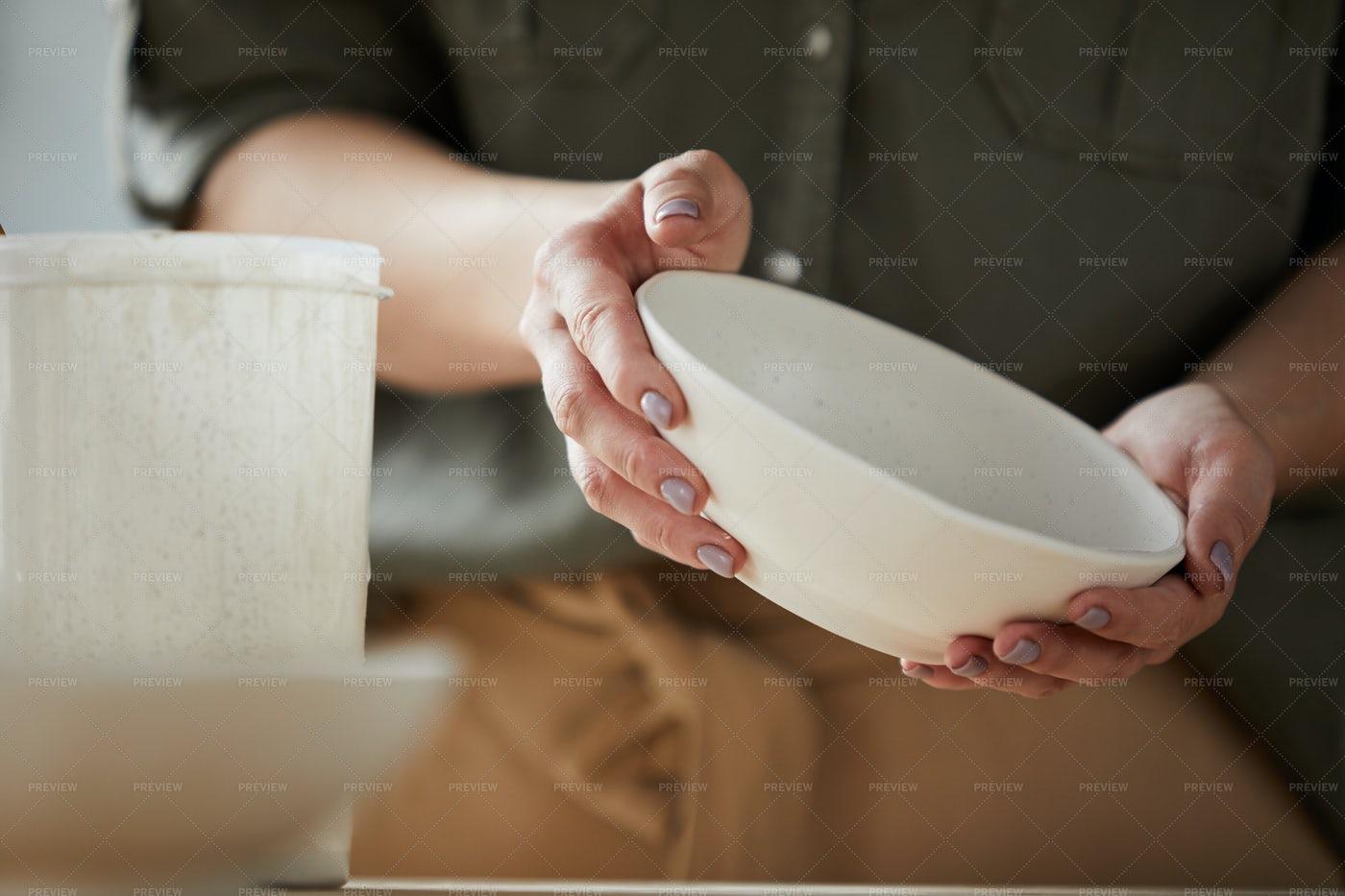 Beutiful Handmade Plate: Stock Photos