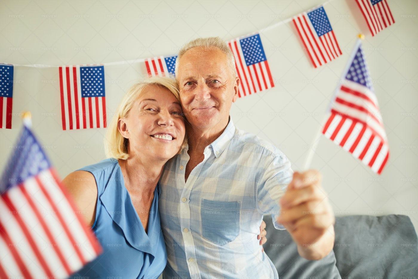 Portrait Of Senior American Couple: Stock Photos