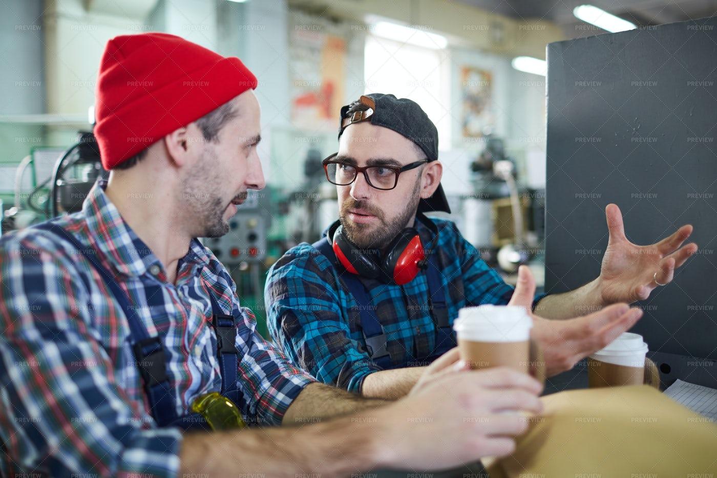 Workers On Coffee Break: Stock Photos