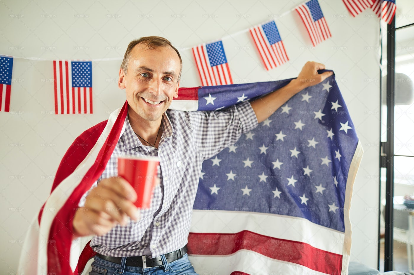 Mature American Patriot: Stock Photos