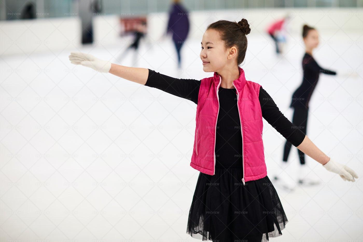 Asian Girl Figure Skating: Stock Photos