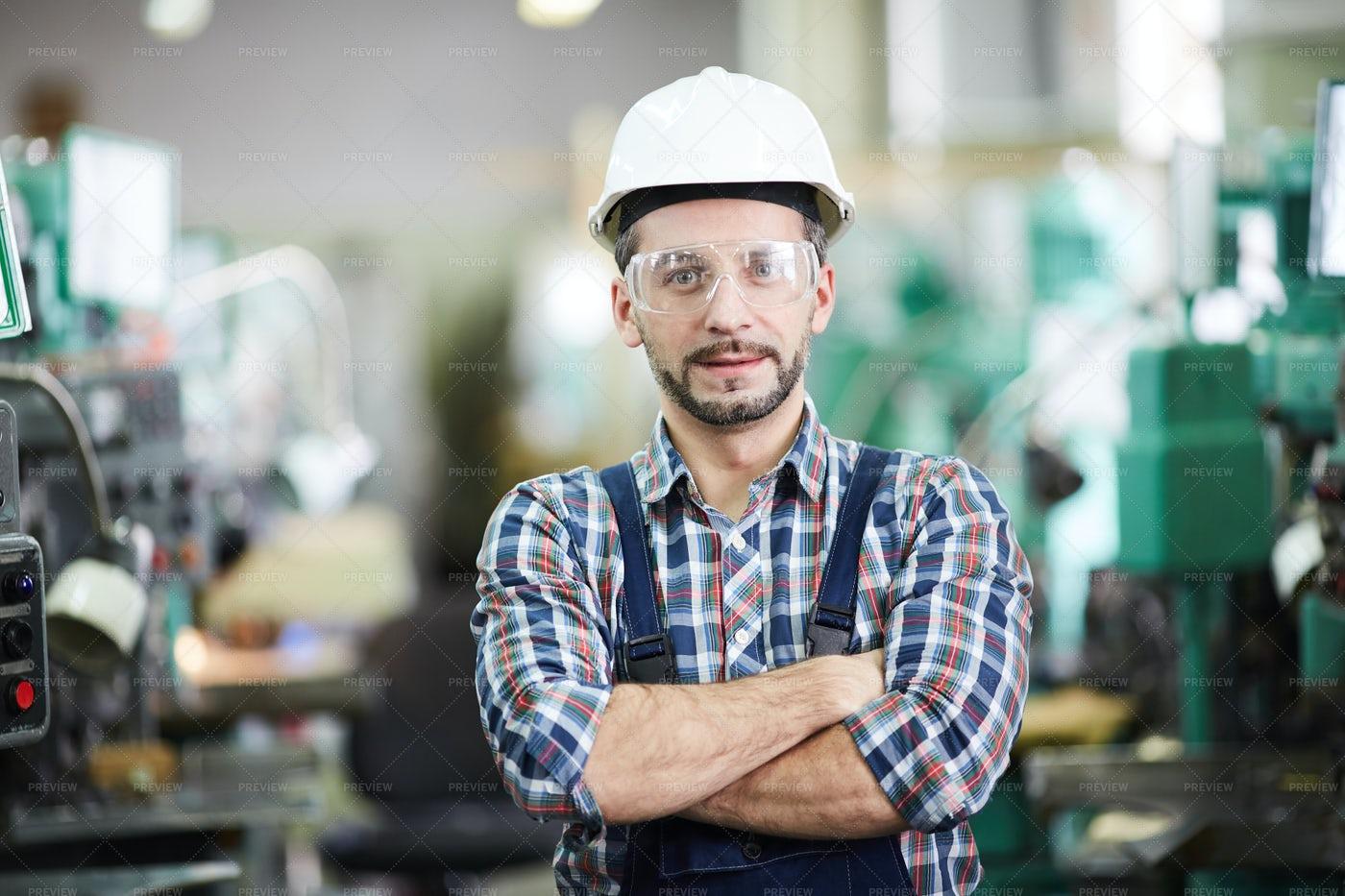 Mature Factory Worker Posing: Stock Photos