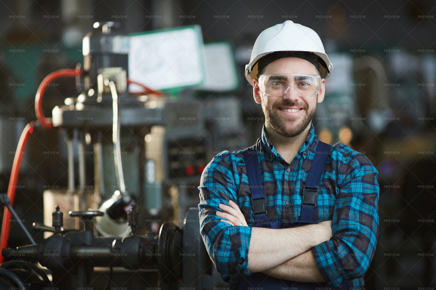 Factory Worker Smiling: Stock Photos