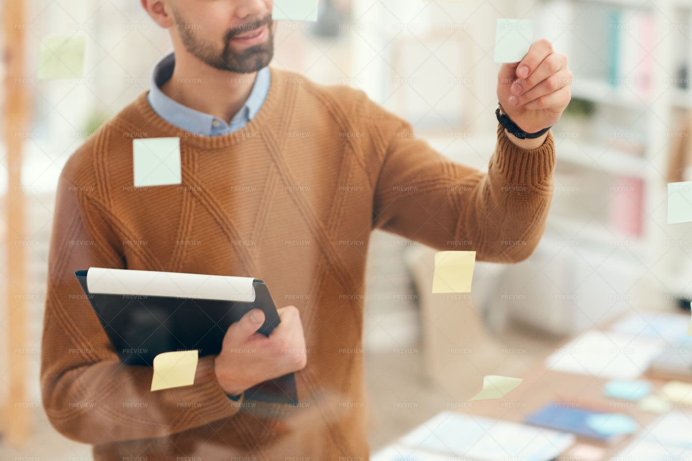 Businessman Planning Project By...: Stock Photos