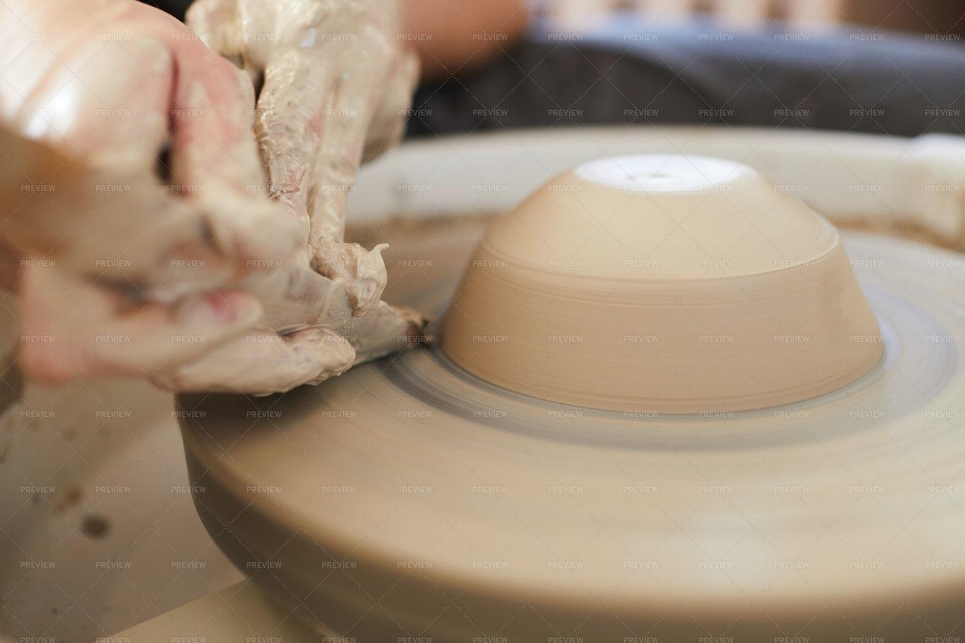 Potters Wheel Close Up: Stock Photos
