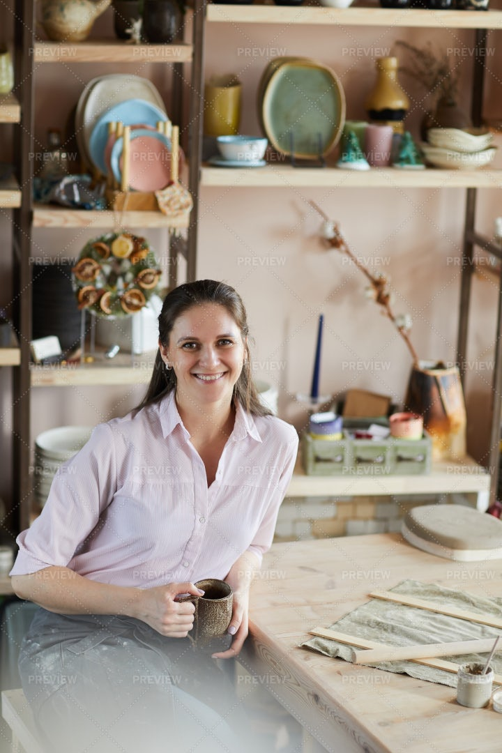 Smiling Female Artisan: Stock Photos