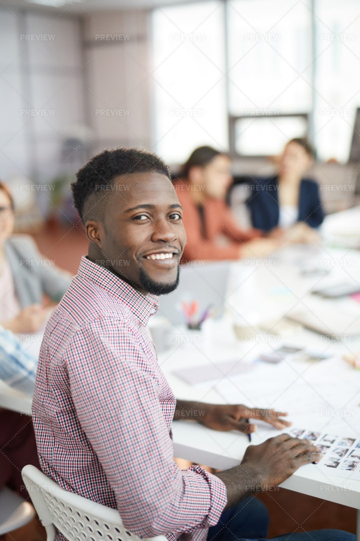 Smiling African-American Man Posing...: Stock Photos