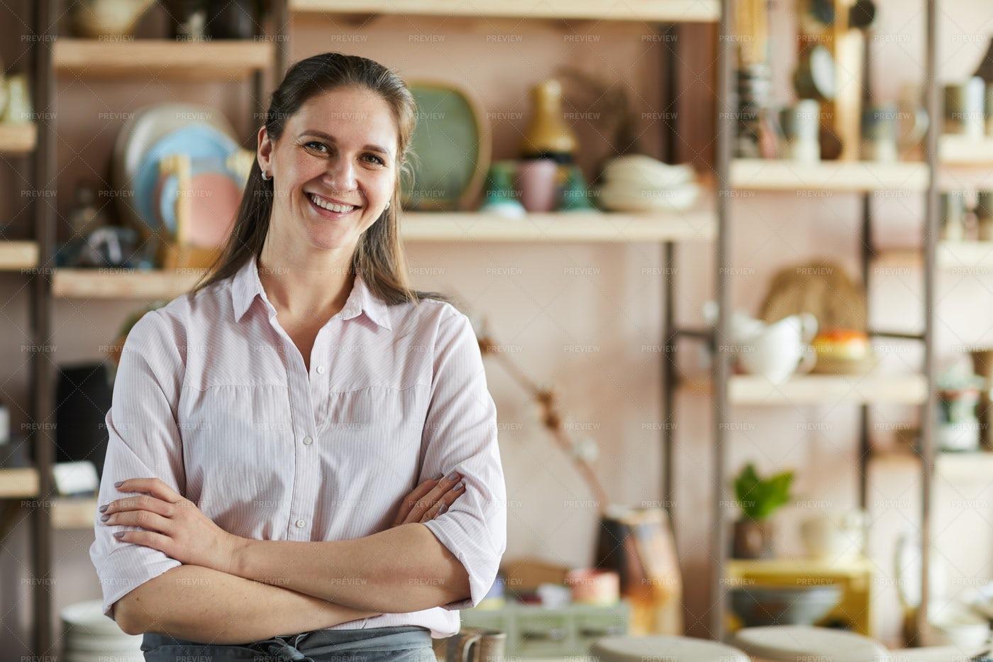 Confident Female Artisan: Stock Photos