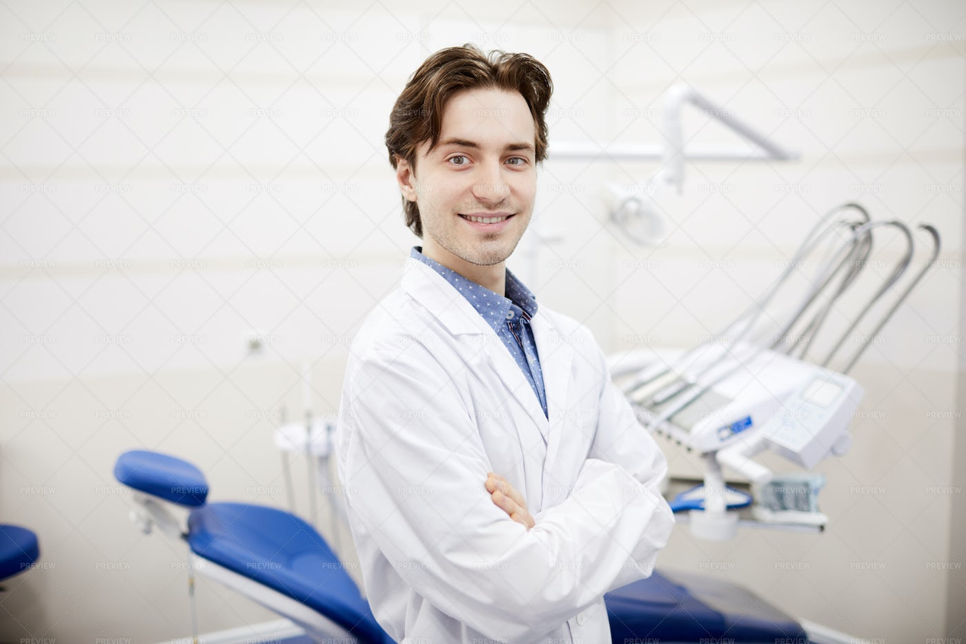 Young Dentist Posing: Stock Photos