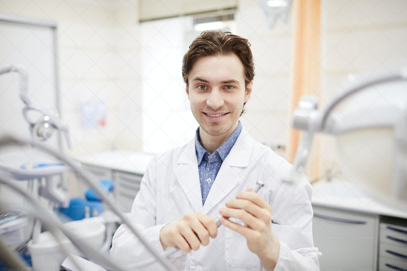Portrait Of Young Dentist: Stock Photos