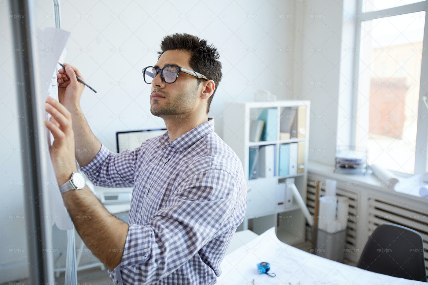 Engineer Planning Project  In...: Stock Photos