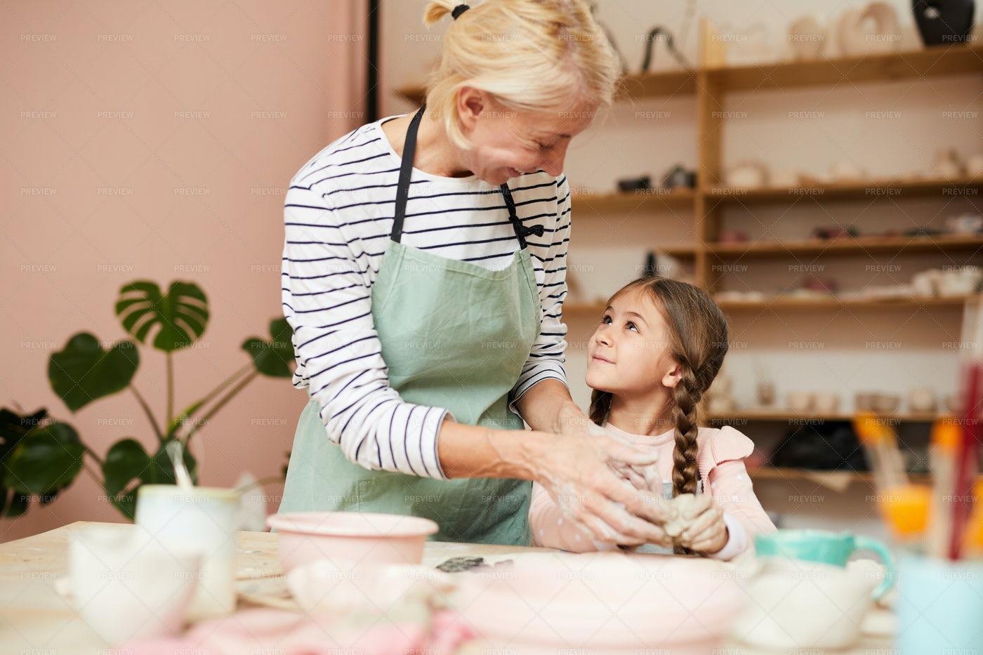 Pottery Teacher: Stock Photos