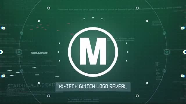 Digital Glitch Logo Reveal : After Effects Templates