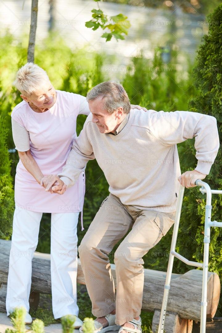 Nurse Helping Senior Patient: Stock Photos