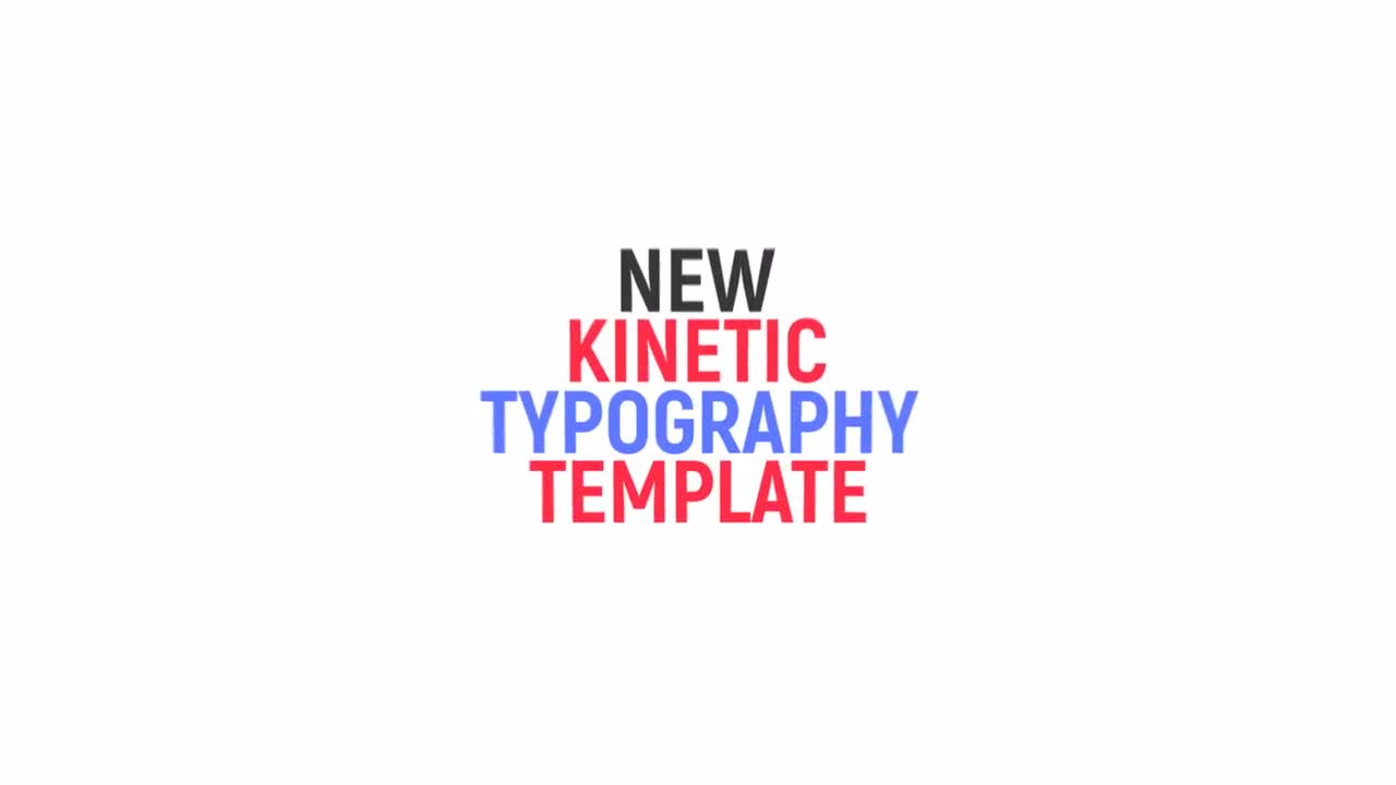 Stylish Kinetic Typography - After Effects Templates | Motion Array