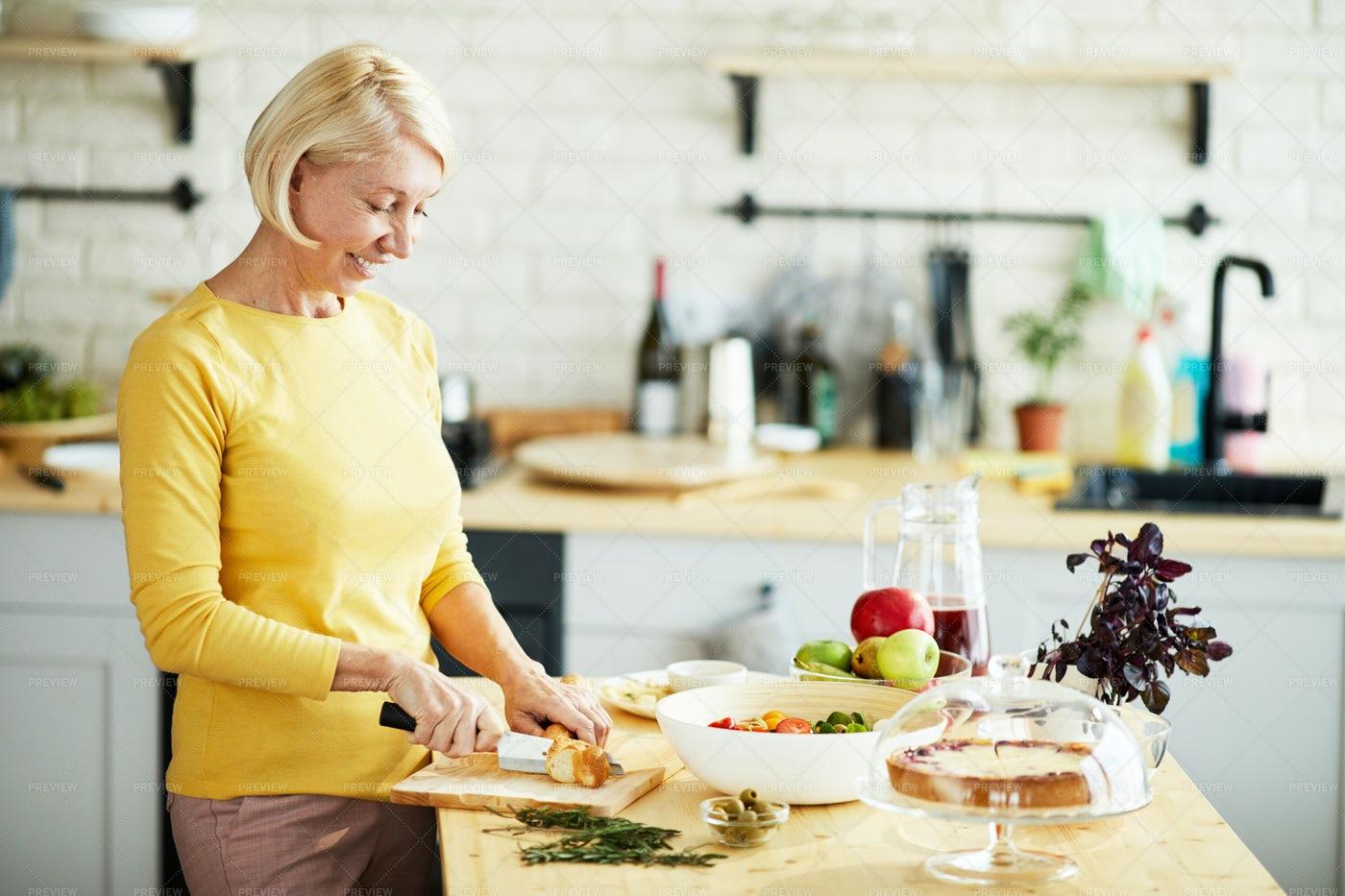 Attractive Woman Preparing Healthy...: Stock Photos