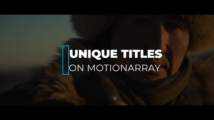 New Unique Titles: After Effects Templates