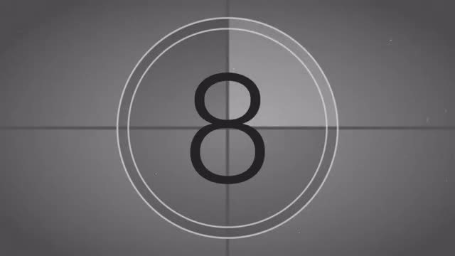 Vintage Film Leader Countdown: Stock Motion Graphics