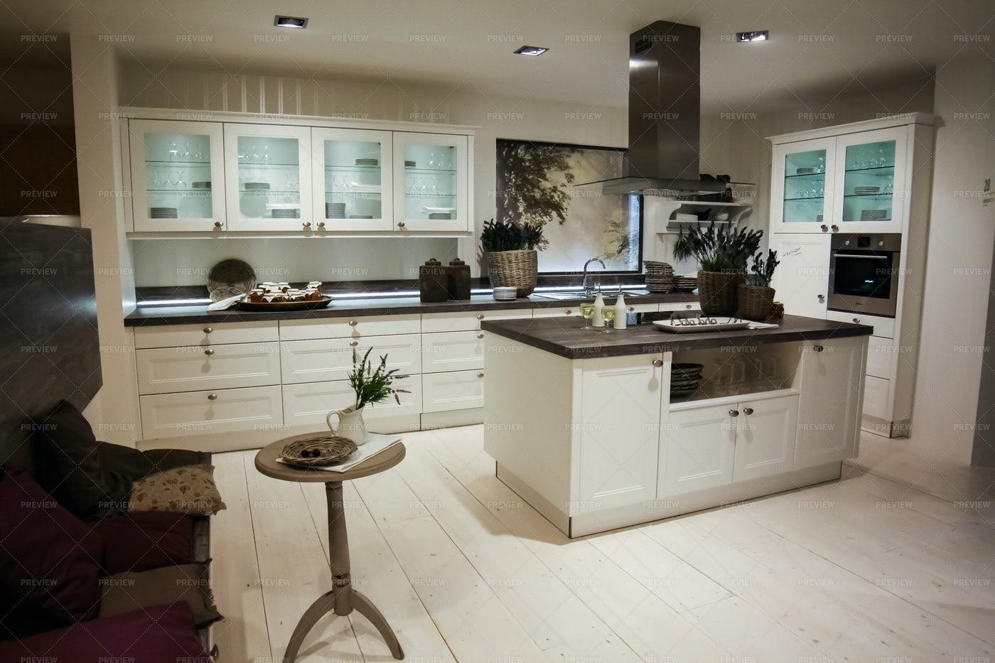 A Modern Kitchen Design: Stock Photos
