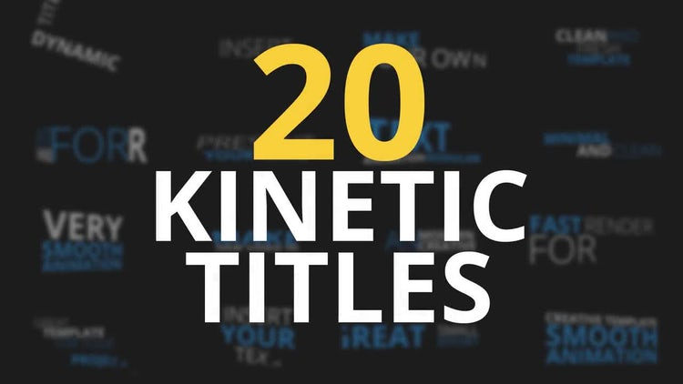 20 Kinetic Titles: After Effects Templates