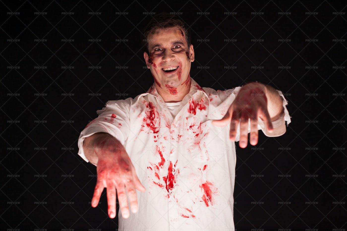 Halloween Zombie Background: Stock Photos