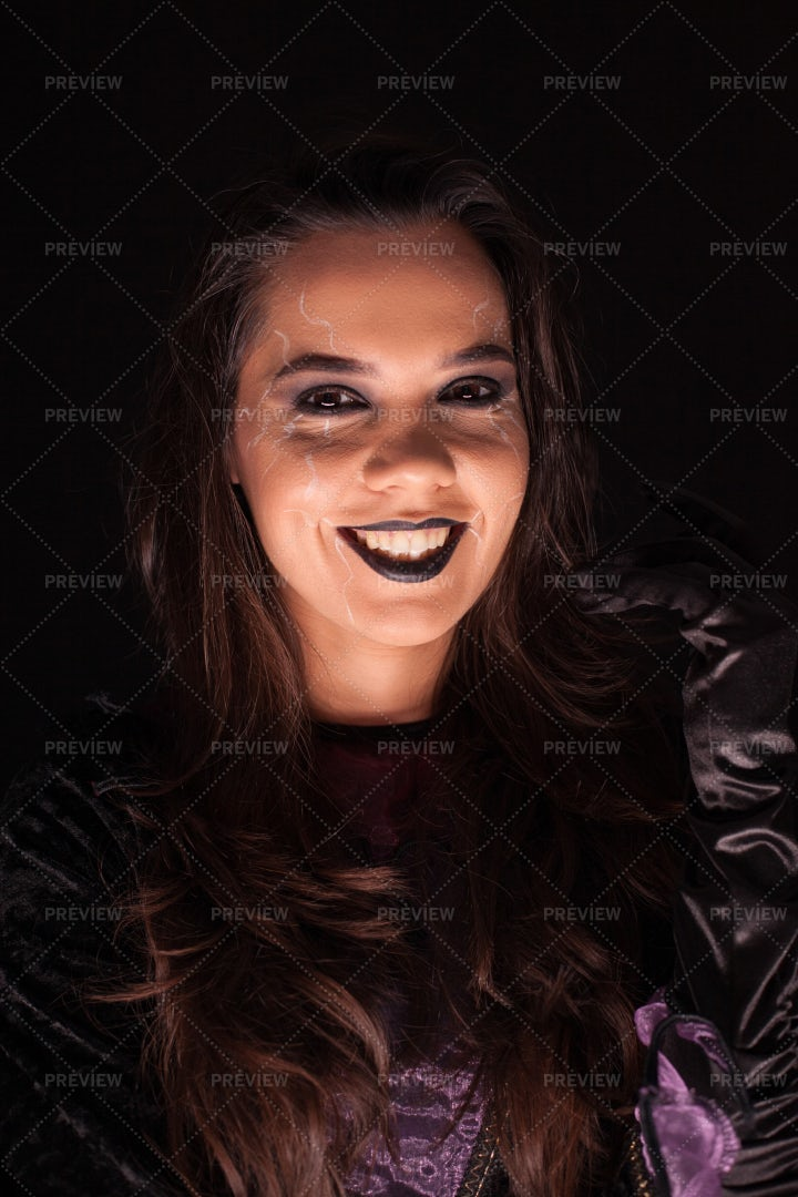 Make Up For Halloween: Stock Photos