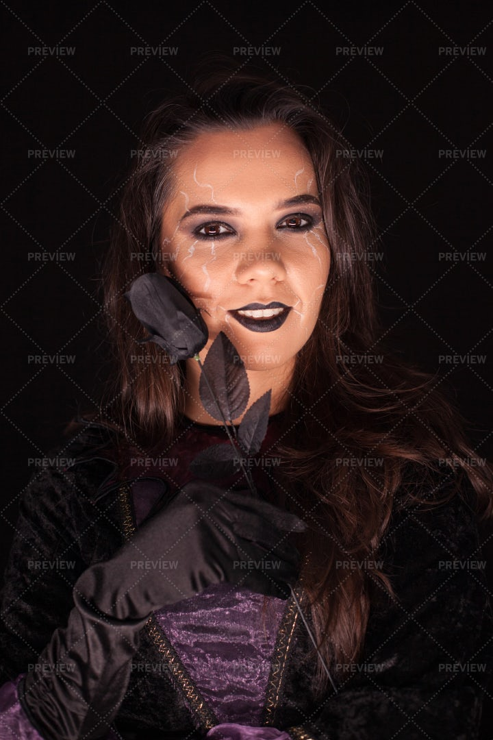 Witch With Evil Face: Stock Photos