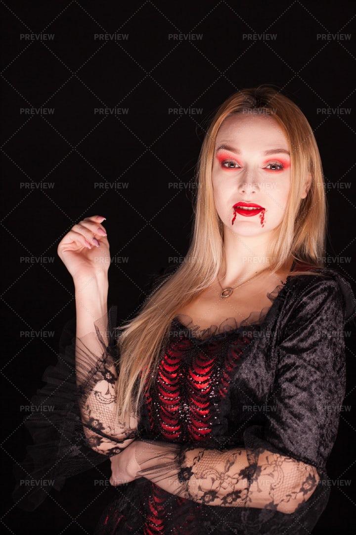 Dressed As A Vampire: Stock Photos