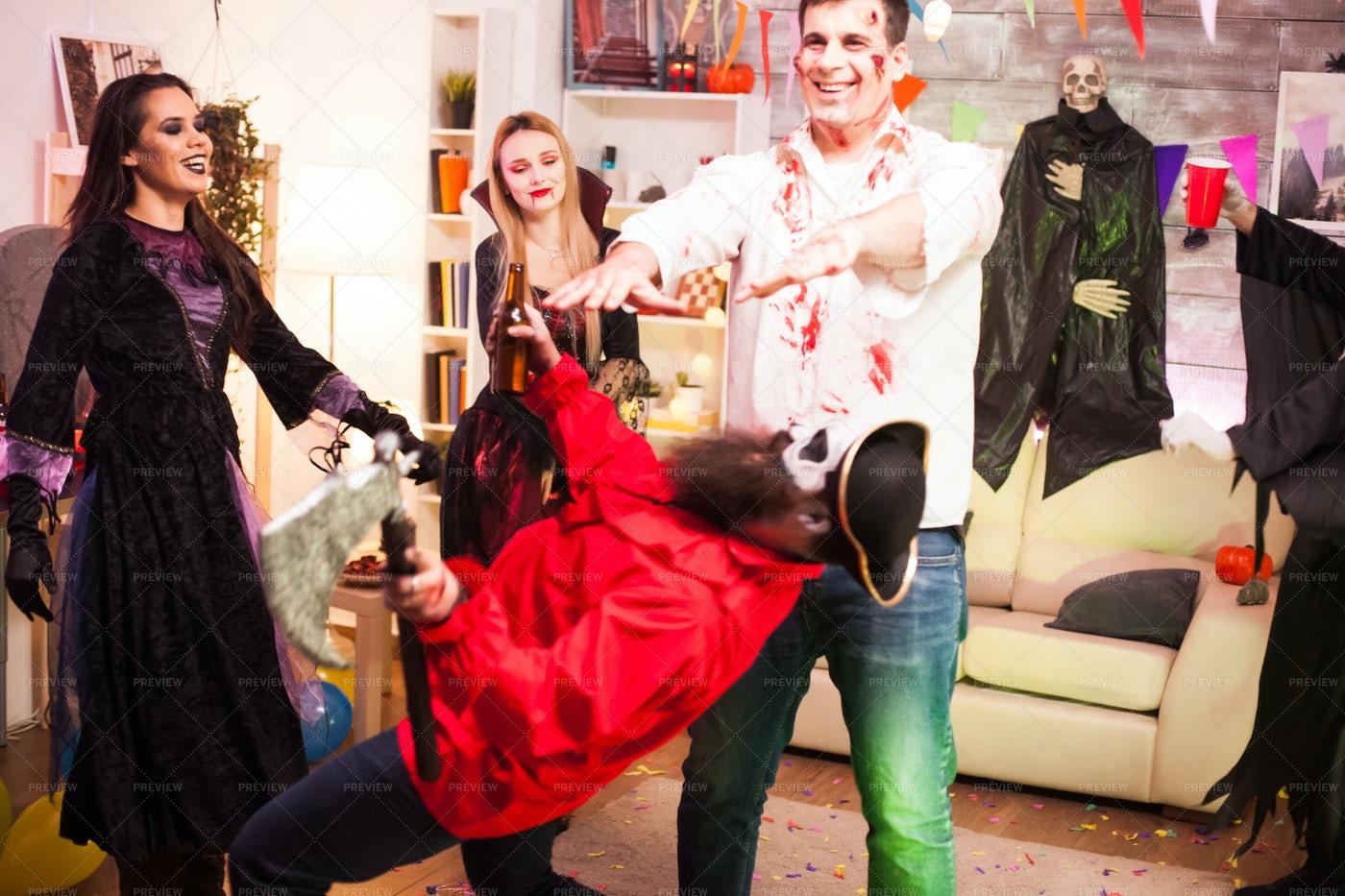 Dancing During Halloween: Stock Photos