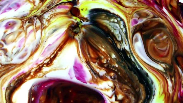 Colorful Ink Paint Blast Turbulence 2: Stock Video