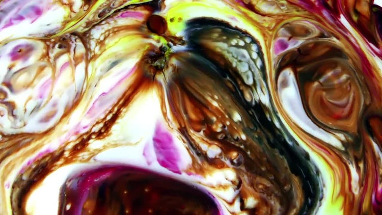 Colorful Ink Paint Blast Turbulence 2: Stock Video