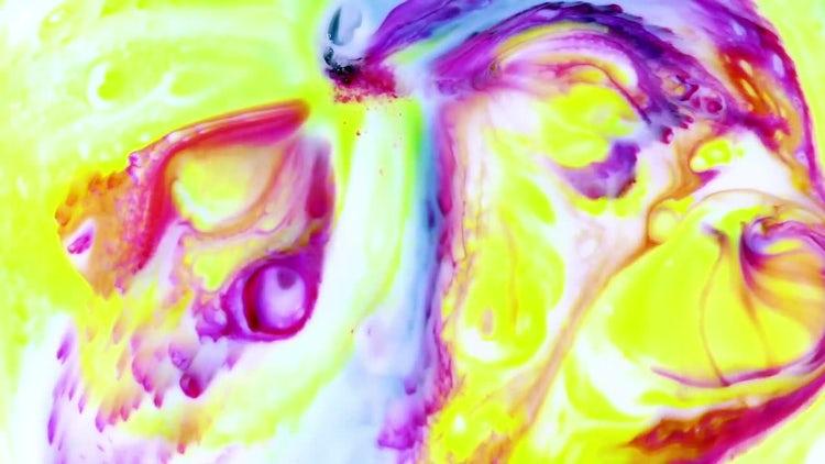 Colorful Ink Paint Blast Turbulence 5: Stock Video