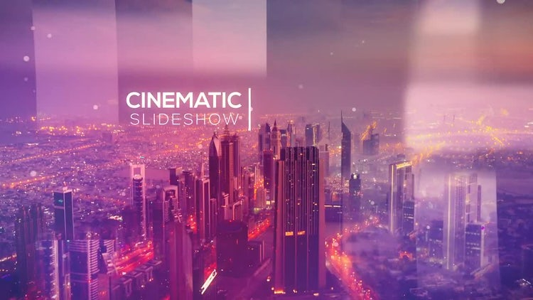 Cinematic Slideshow: After Effects Templates