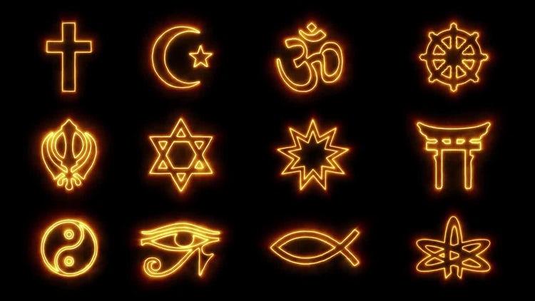 12 Religious Symbols: Motion Graphics