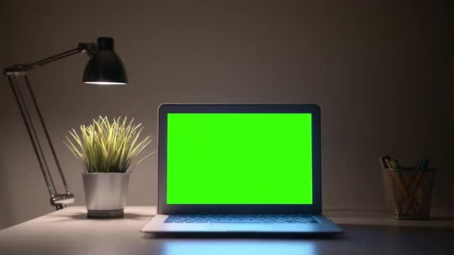 Laptop With Lamp: Stock Video