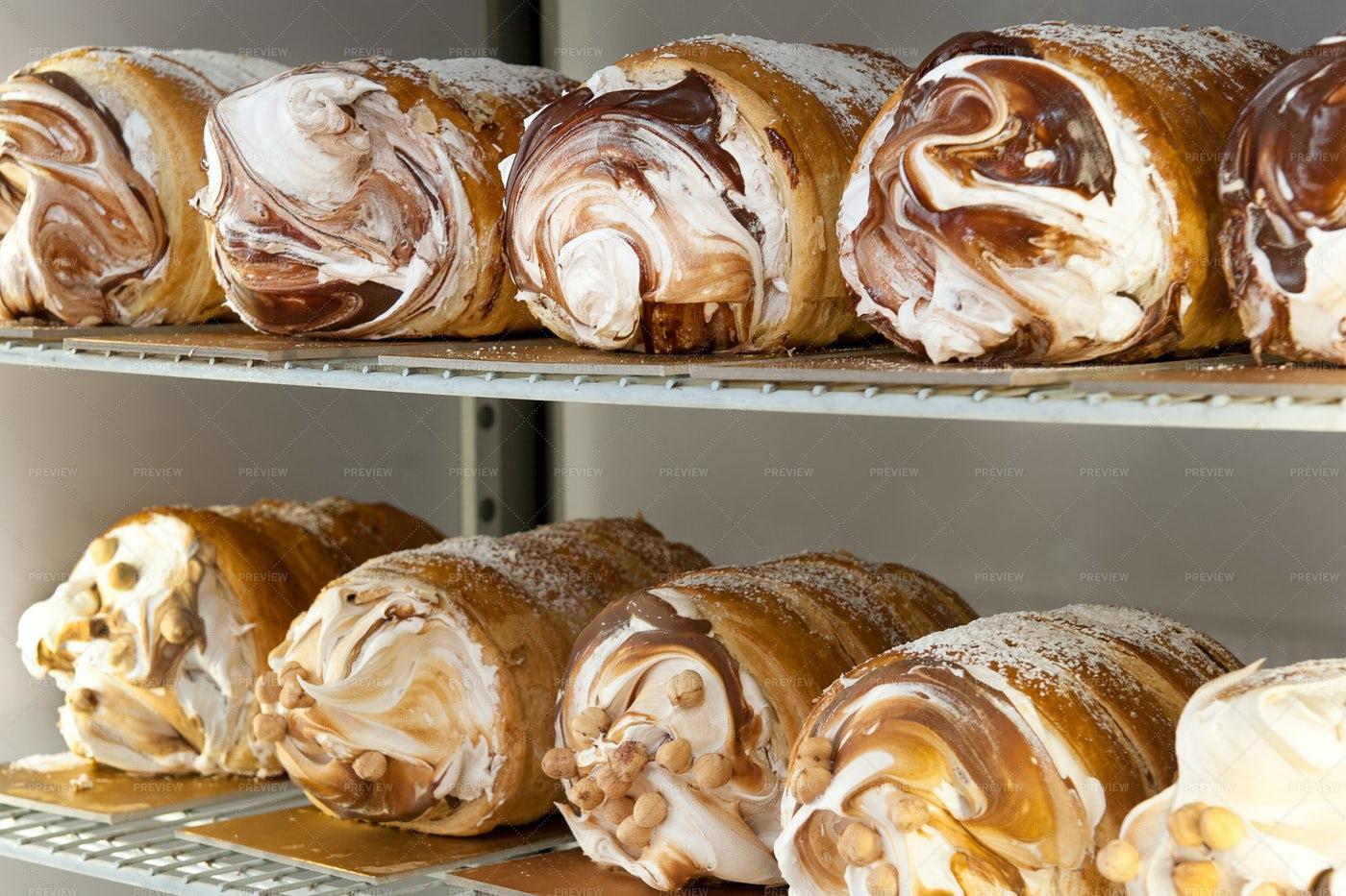 Assorted Semifreddo Desserts: Stock Photos