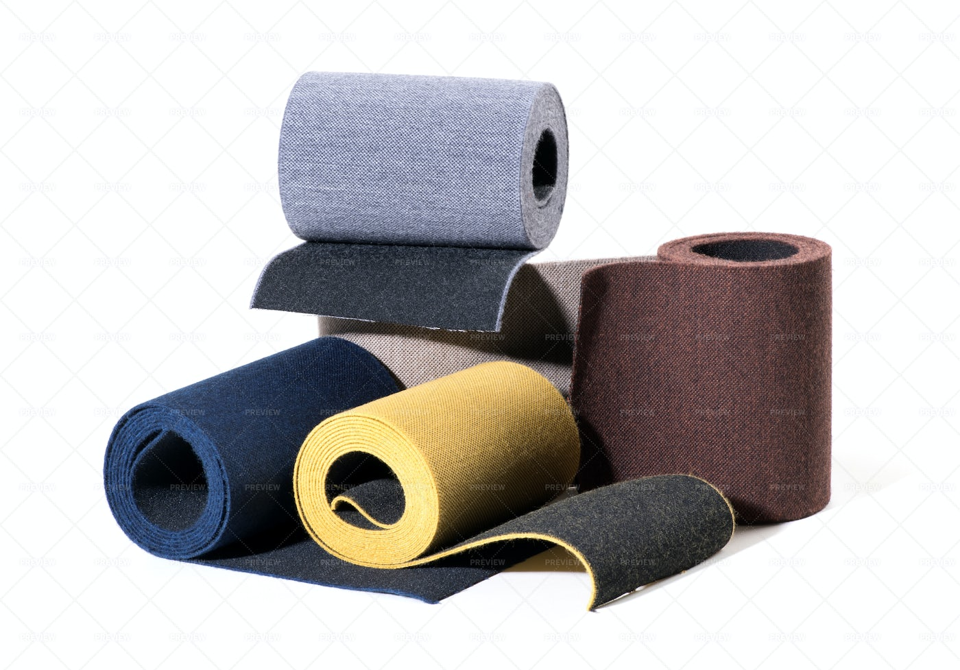 Textured Colored Elastic Ribbons: Stock Photos