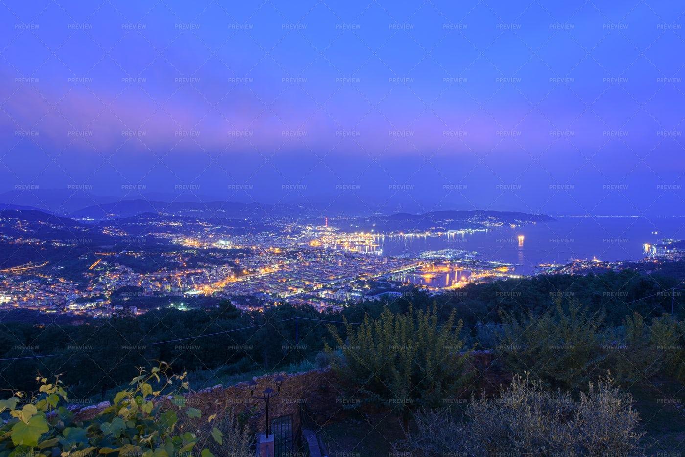La Spezia At Night: Stock Photos