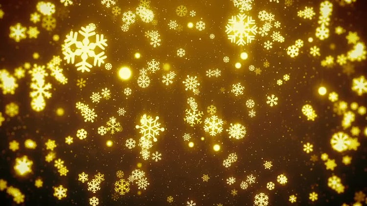 Christmas Snowflakes Background: Motion Graphics