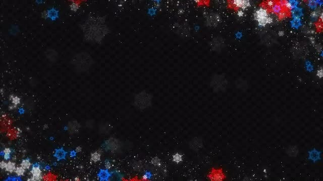 Christmas Snowflakes Sparkling Frame: Stock Motion Graphics
